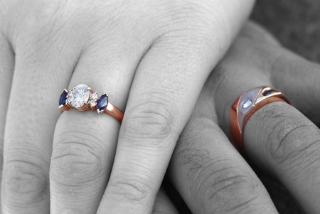 Two Rings Selectively Colored Stock Photo