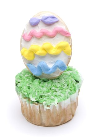 Easter Cupcake on White Stock Photo - 4689470