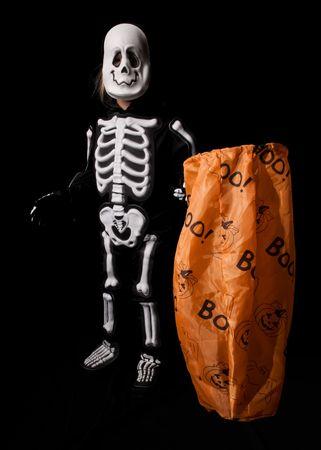 Trick-or-Treat Skeleton Halloween Costume