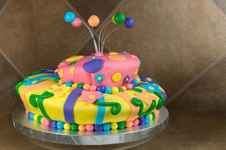Colorful and Playful Birthday Cake