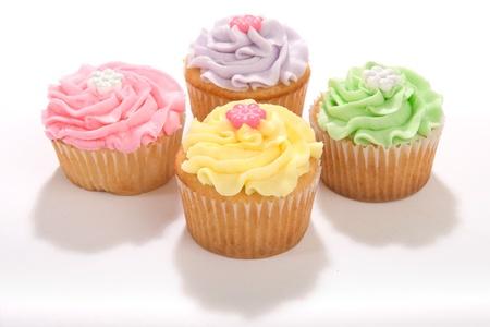 Four Pastel Cupcakes Stock Photo - 9064597