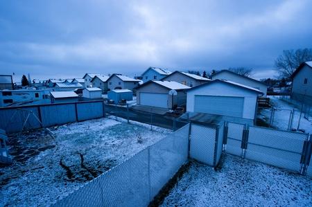 Desolate Urban Backyard in Winter