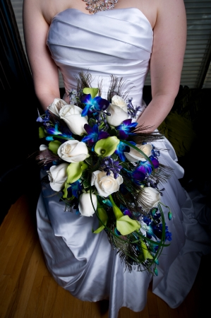 Woman Holds Bouquet