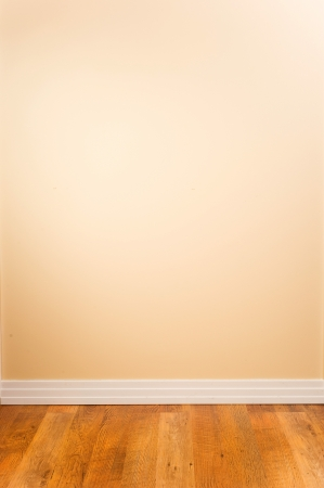Blank Wall and Wooden Floor with Copy Space