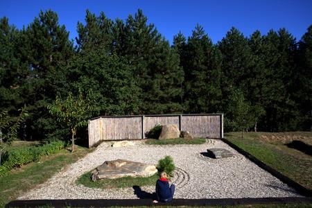karesansui: karesansui Japanese old traditional style rock garden