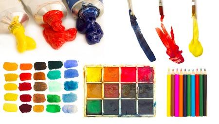 daub: painting material
