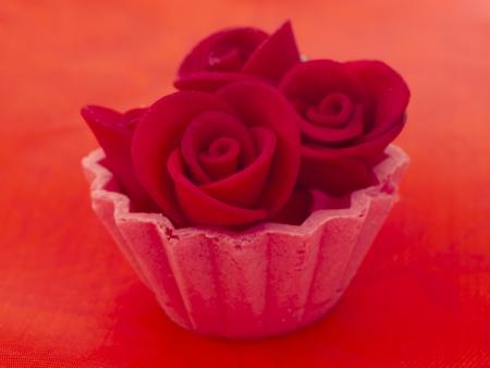 red cupcake photo