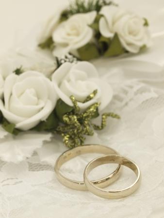 weddingrings: wedding arrangement Stock Photo