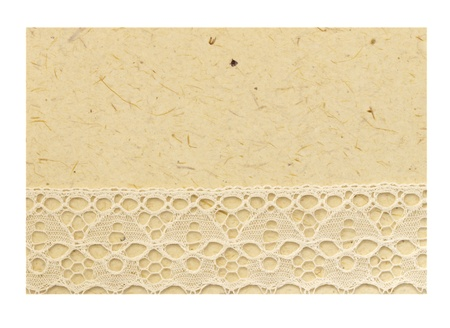 note with lace isolated photo