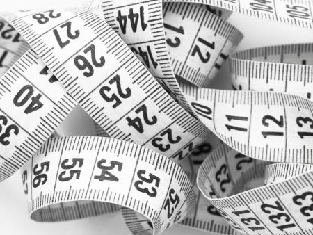tailors tape: measuring tape Stock Photo