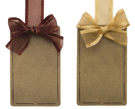 tags with beautiful bows