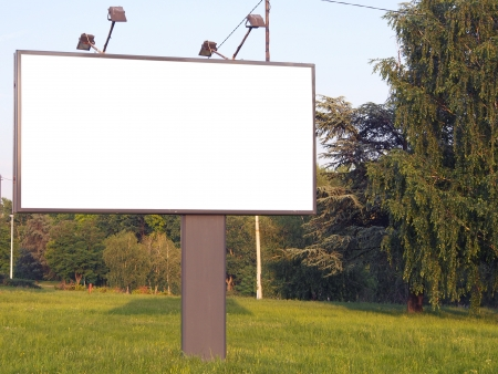 empty bilboard for your ad
