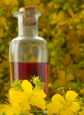 st  john: St John s wort oil Stock Photo