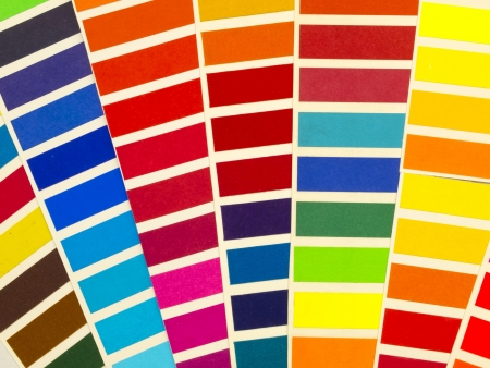 ral: color samples Stock Photo