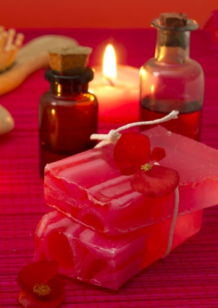 red spa setting Stock Photo - 17978543