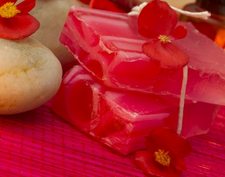 red spa setting Stock Photo - 17978609