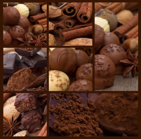 cioccolato natale: collage di cioccolato