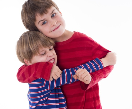 two brothers hugging photo