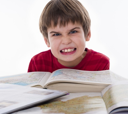 boy hates reading photo