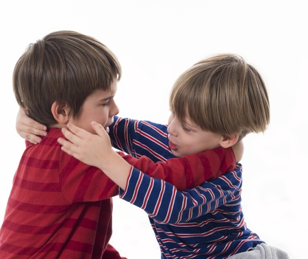 brothers fighting Stock Photo - 18125928