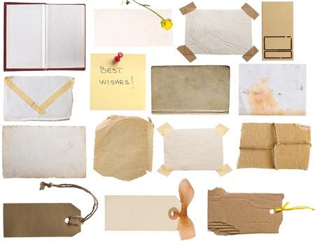 etiquetas de ropa: colecci�n de art�culos vintage y notas