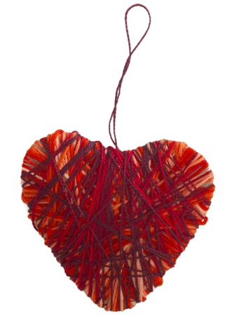 red handmade textile heart photo