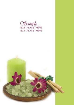 spa arrangement with designed place for your text photo