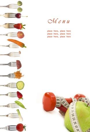 果物と野菜のダイエット メニュー