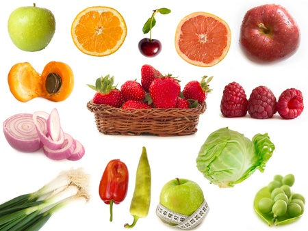 fruits and vegetables collection photo