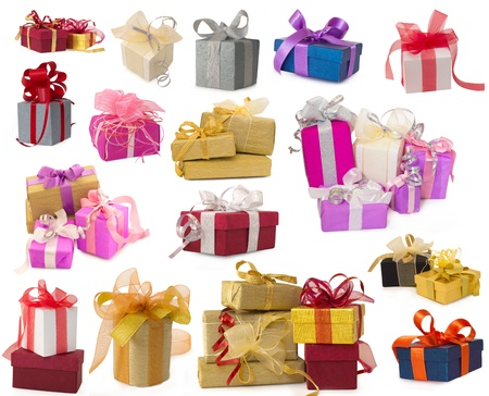 collection of gifts Stock Photo
