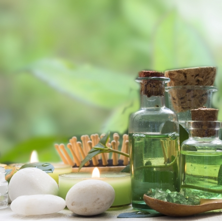 green spa arrangement Stock Photo - 18211445