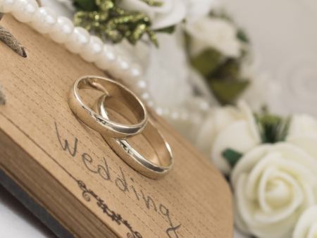 wedding rings: wedding rings Stock Photo