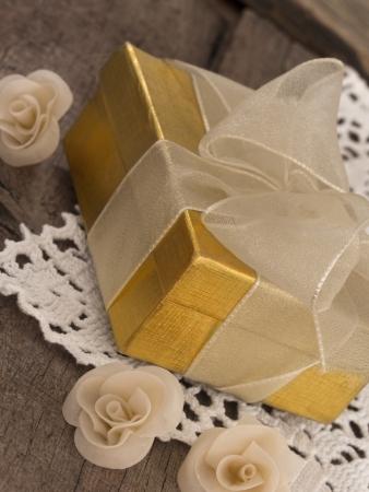 arrangment: gift box in the retro arrangment