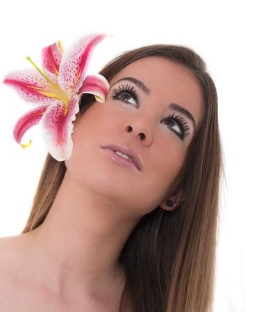 beautiful woman face, beauty treatment concept, spa Stock Photo - 18245330