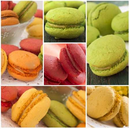 tasteful macaroons collage  photo