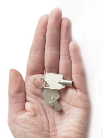 keys on the hand photo