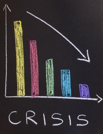 crisis concept, business graph