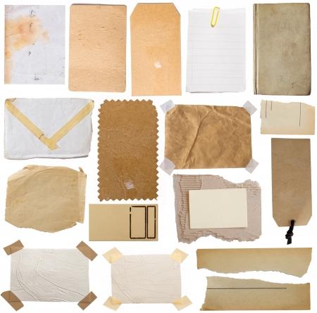 nota de papel: notas y etiquetas de colección