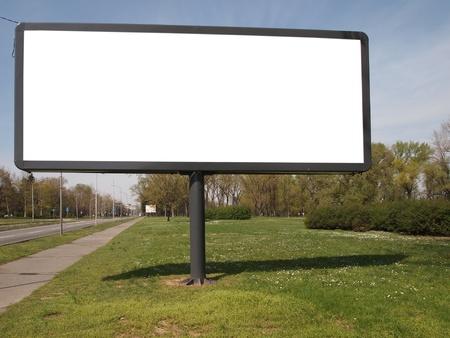 agencia de viajes: valla vacía para su anuncio Foto de archivo
