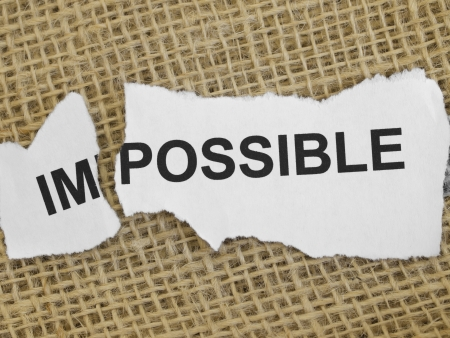 infeasible: impossible concept