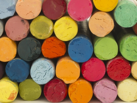 colorful crayons photo