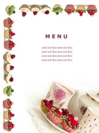 cupcake menu Stock Photo - 18588615