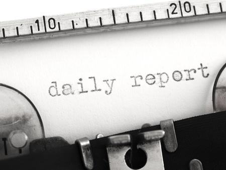 daily report on typewriter