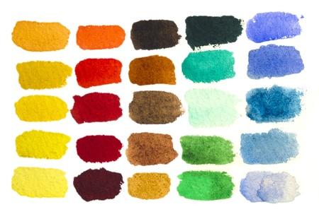 水彩画の手描きのブラシ ストローク 写真素材
