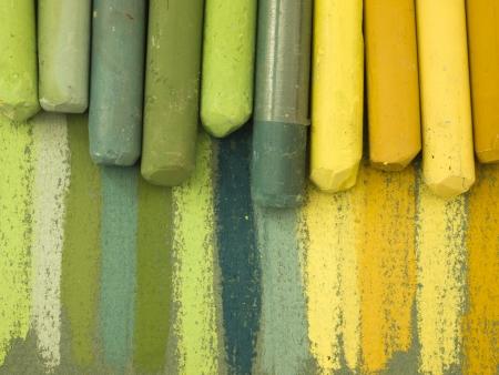 緑のパステル