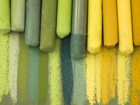 green pastels