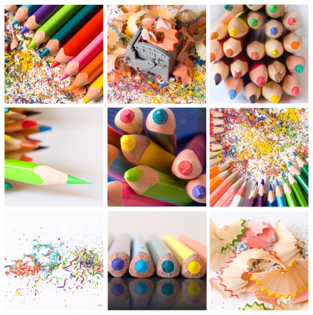 colorful pencils collage