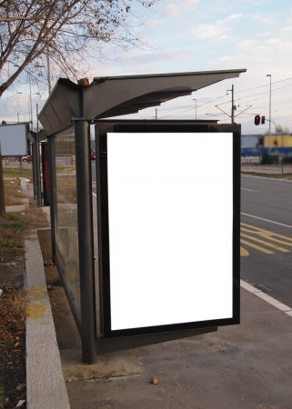 empty bilboard for your ad      photo