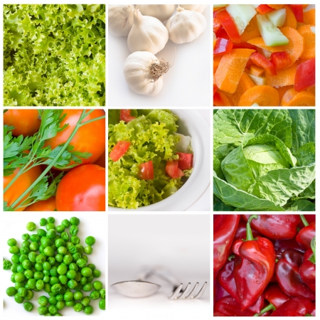 vegetable collage Stock Photo - 18667401