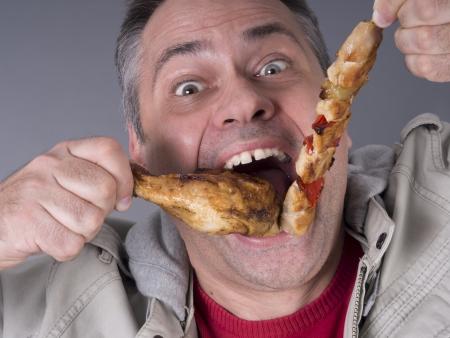 hambriento: Hungry carn�voro hombre, ninguna dieta